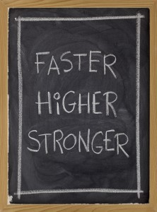 faster, higher, stronger on blackboard