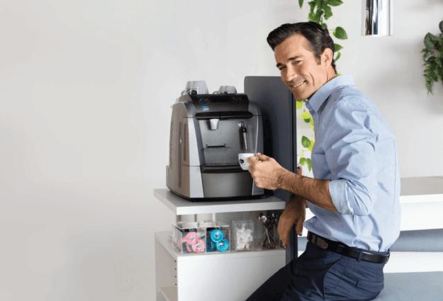 Distribución de máquinas de café y café para oficinas